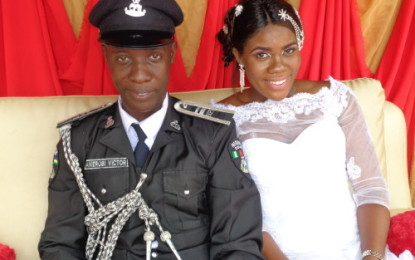 InlandTown Wedding: Anierobis Police Wedding