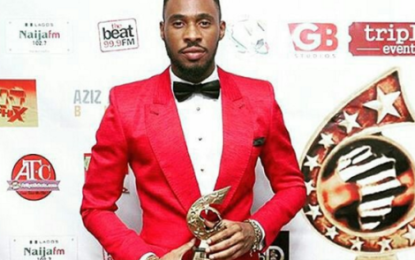 Late Obi Ofala Okagbue's Son Chris, Wins A Movie Award (Pictures)