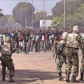 face to face army and biafra protesters