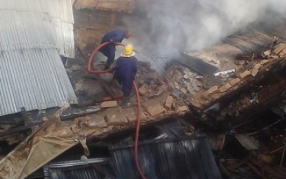 Ochanja Market In Onitsha On Fire This Morning (Pictures)