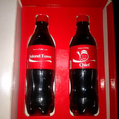 Coca-cola shares a feeling with Inland Town!