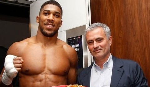 Mourinho Meets Nigerian Born British Boxer Anthony Joshua