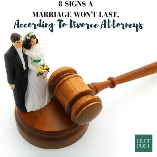 8 Signs A Marriage Won't Last – Huff Post