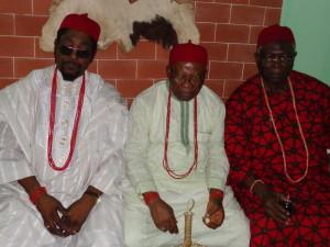 Chief Chike maduegbuna (Ozi Adamagwe), Chief Okechukwu Ibekwe (Omodi Daike) and Chief Emma Egbunike (Odua Ngo)