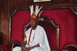 Obi Achebe on the throne of Ezechima