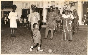 The toddler Obi as a footballer at Government House Enugu