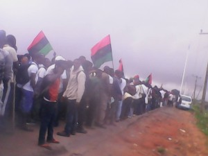 Biafra protesters Asaba