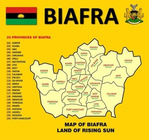 Map of Biafra