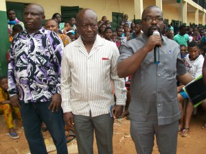 Enwezor and his team addressing youths