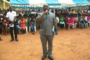 Victor Enwezor,  National Co-ordinator of  Come Alive    Initiative  addressing youths on drug abuse(1)